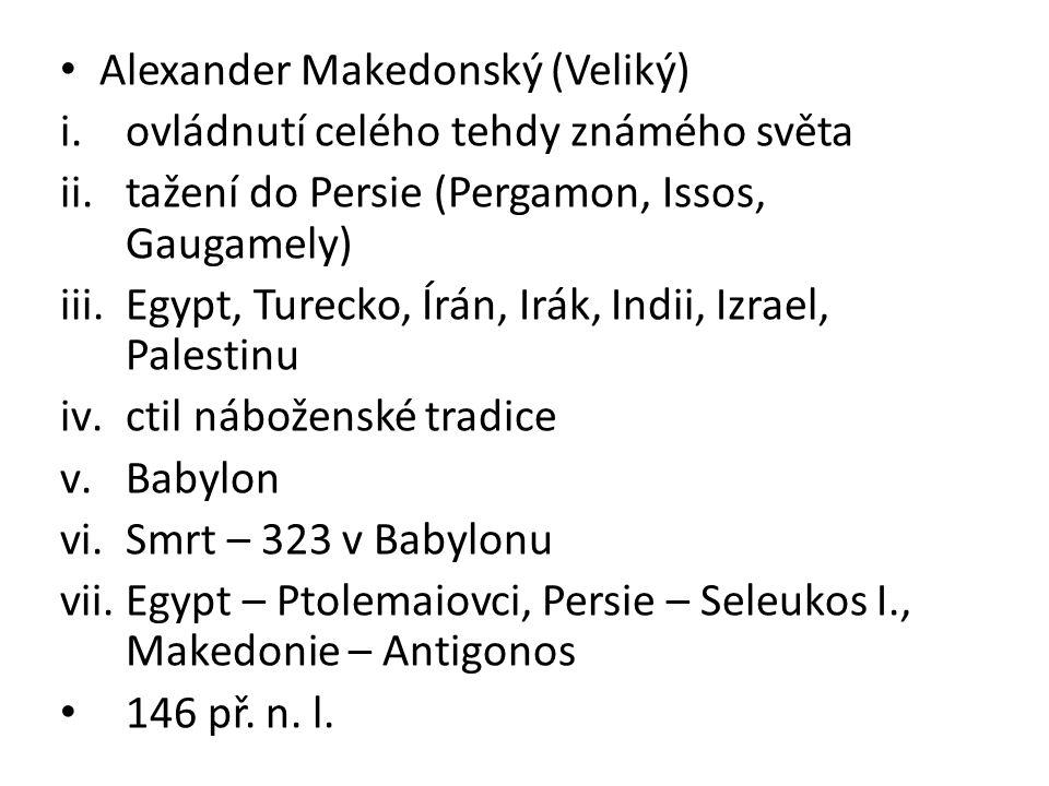 Alexander Makedonský (Veliký)