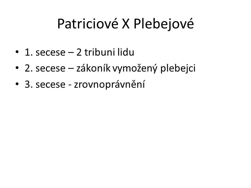 Patriciové X Plebejové