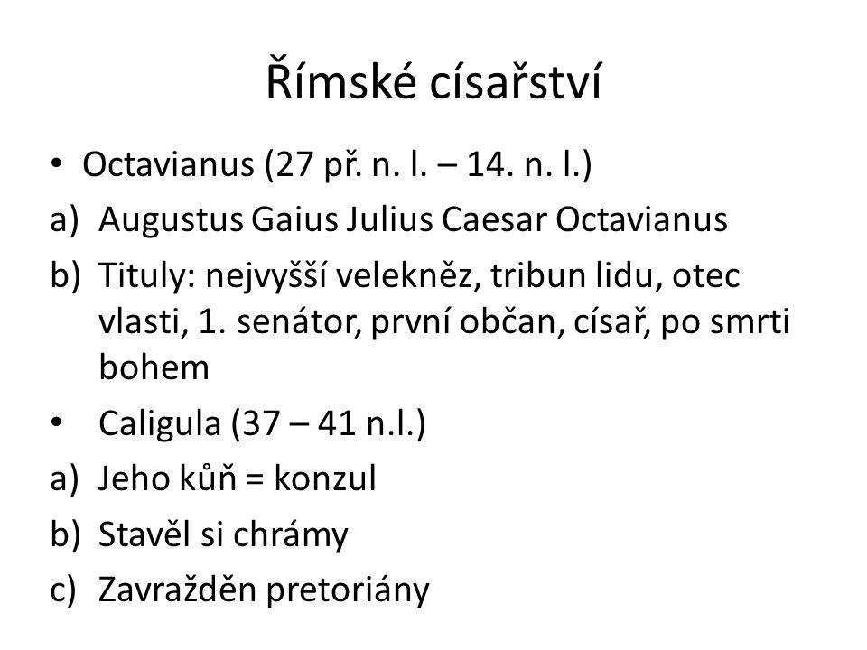 Římské císařství Octavianus (27 př. n. l. – 14. n. l.)