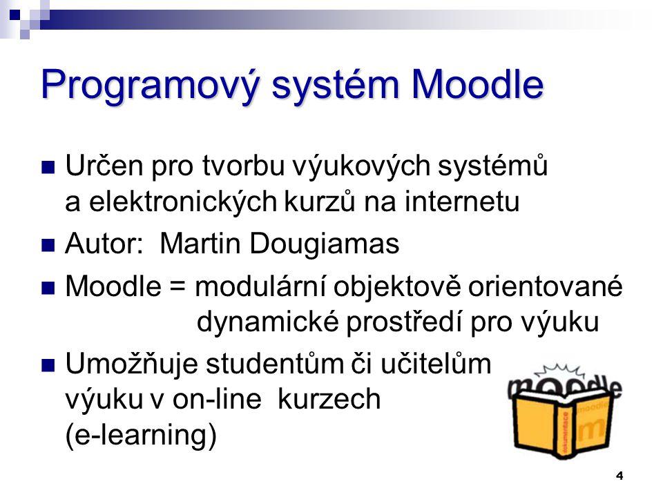 Programový systém Moodle