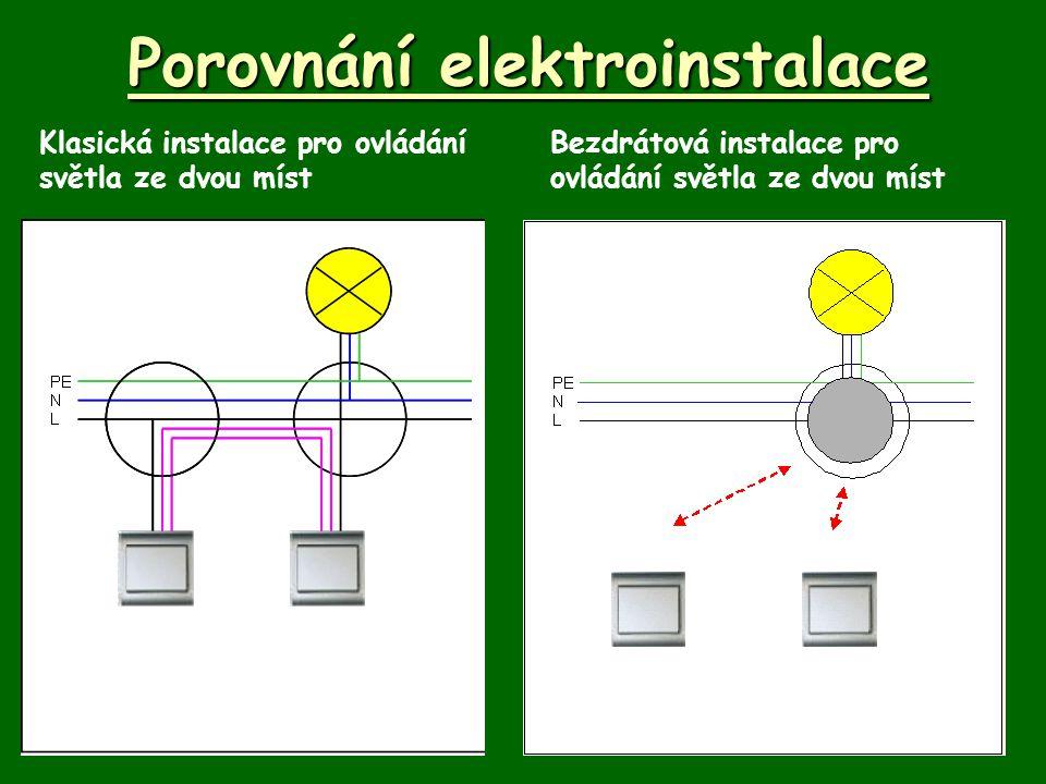 Porovnání elektroinstalace