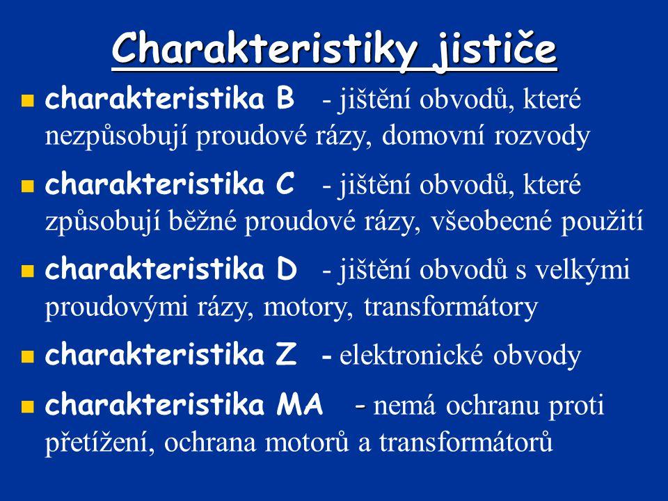 Charakteristiky jističe