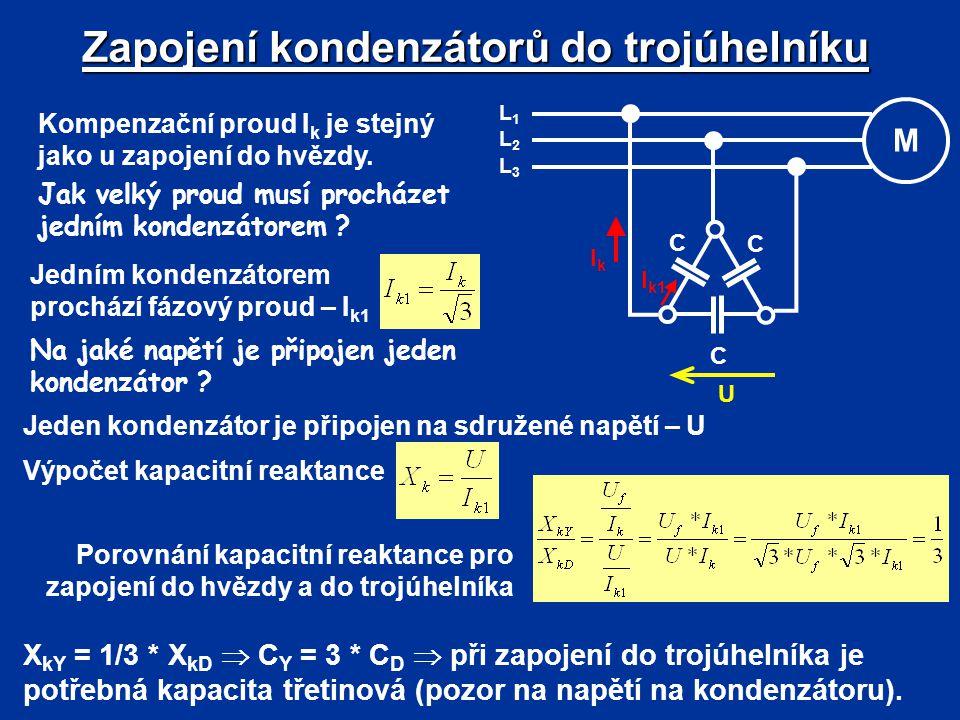 Zapojení kondenzátorů do trojúhelníku