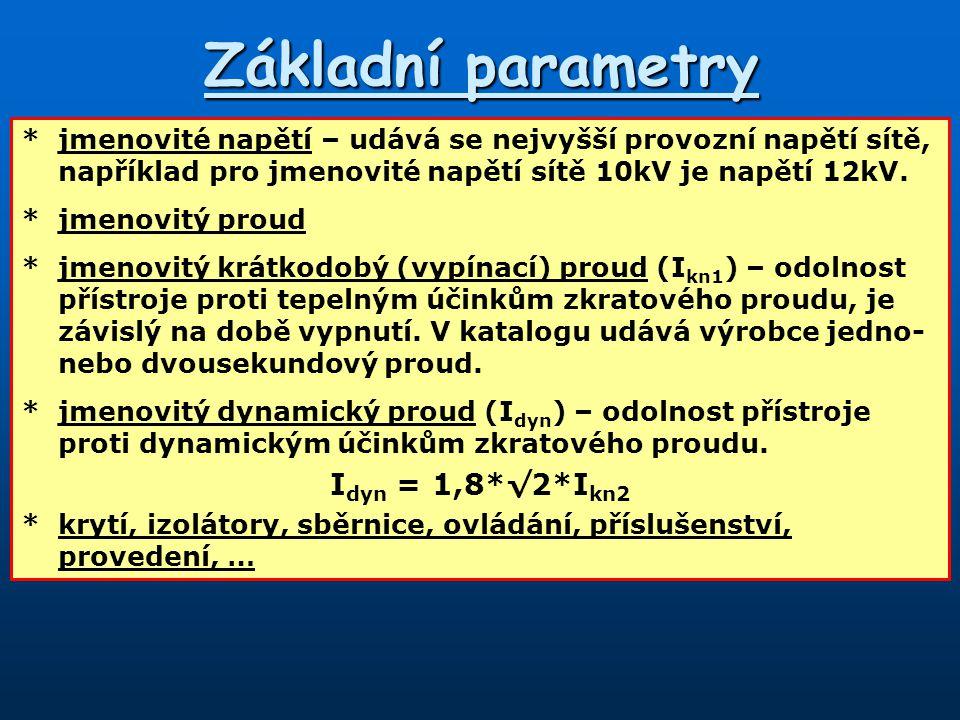 Základní parametry Idyn = 1,8*√2*Ikn2