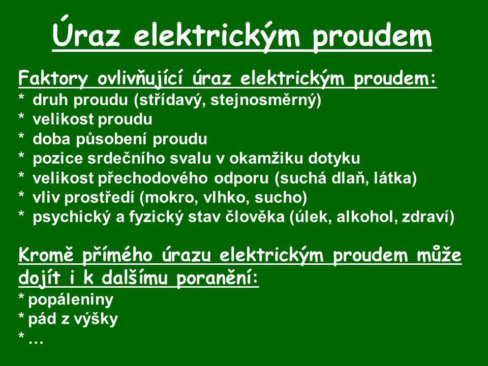 Úraz elektrickým proudem