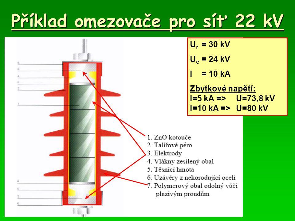 Příklad omezovače pro síť 22 kV
