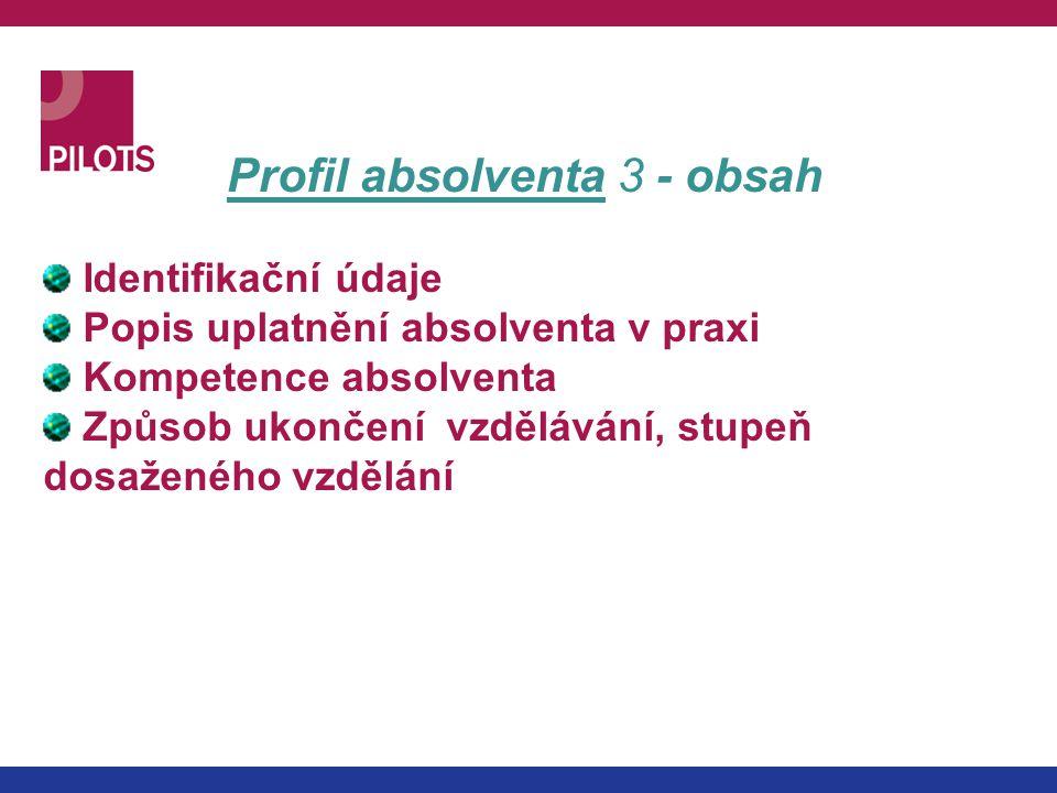 Profil absolventa 3 - obsah