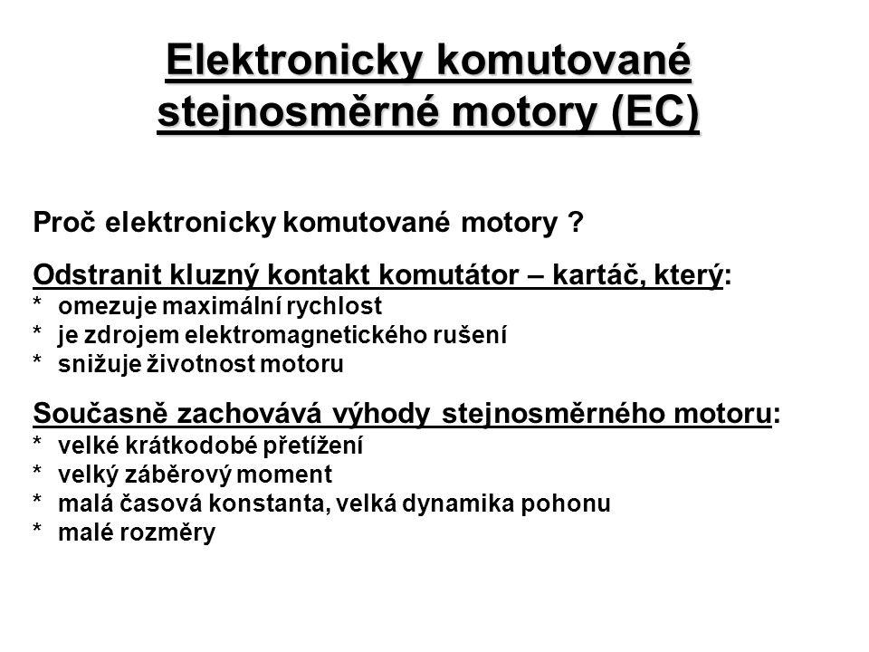 Elektronicky komutované stejnosměrné motory (EC)
