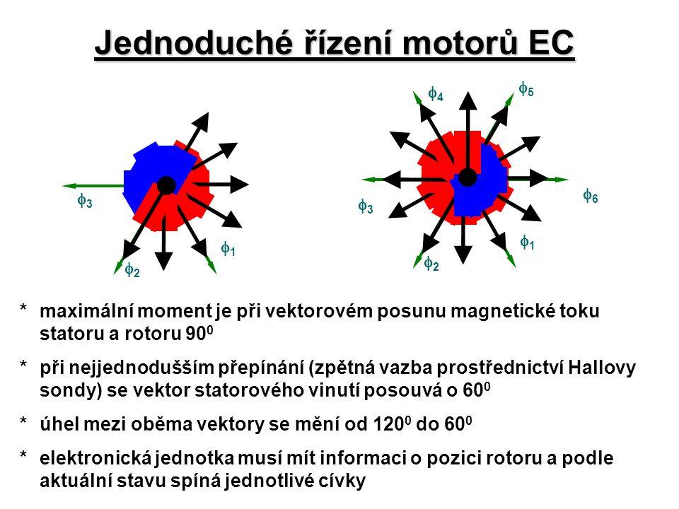 Jednoduché řízení motorů EC