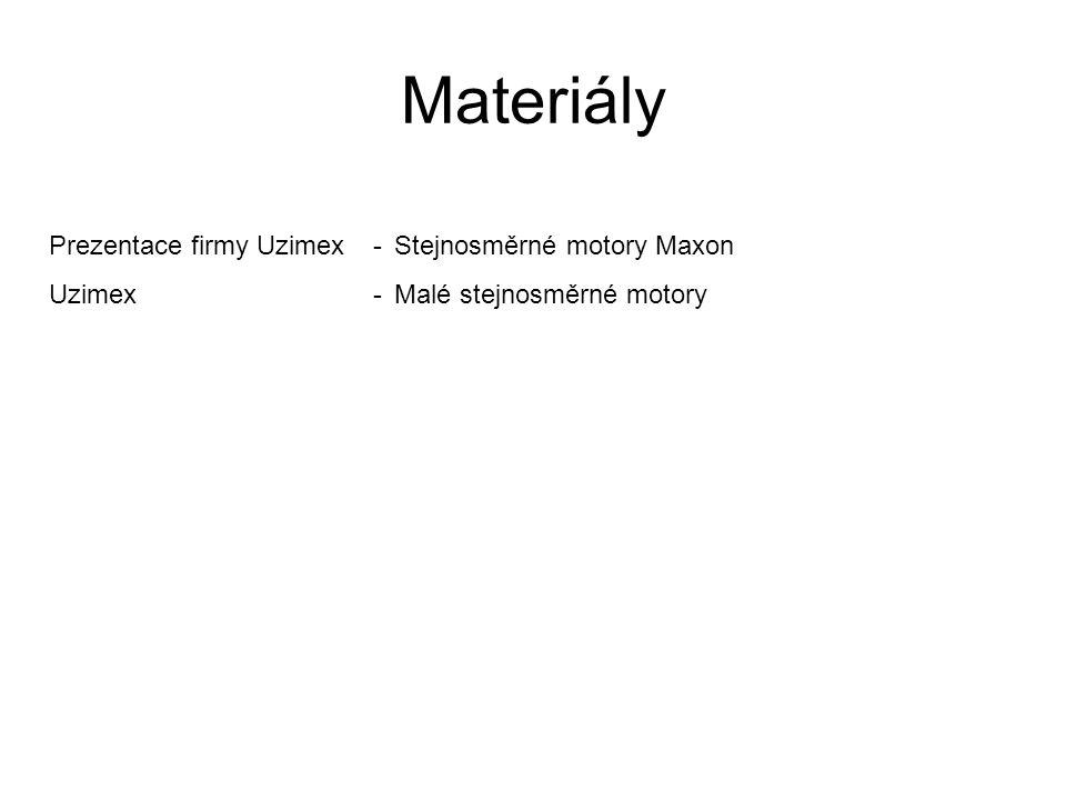 Materiály Prezentace firmy Uzimex - Stejnosměrné motory Maxon