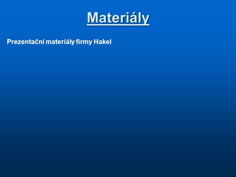Materiály Prezentační materiály firmy Hakel