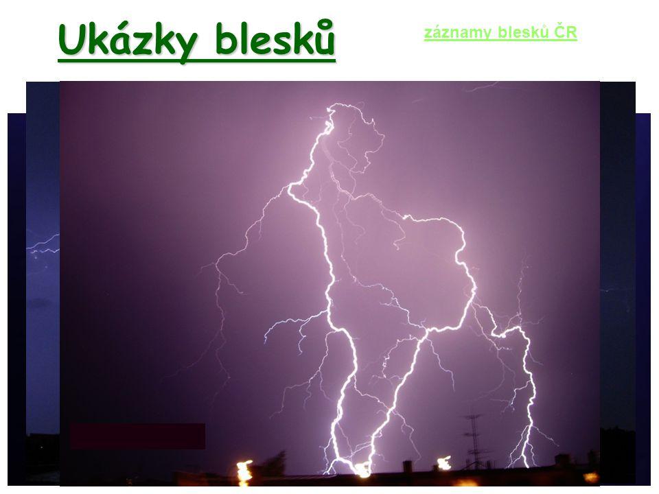 Ukázky blesků záznamy blesků ČR