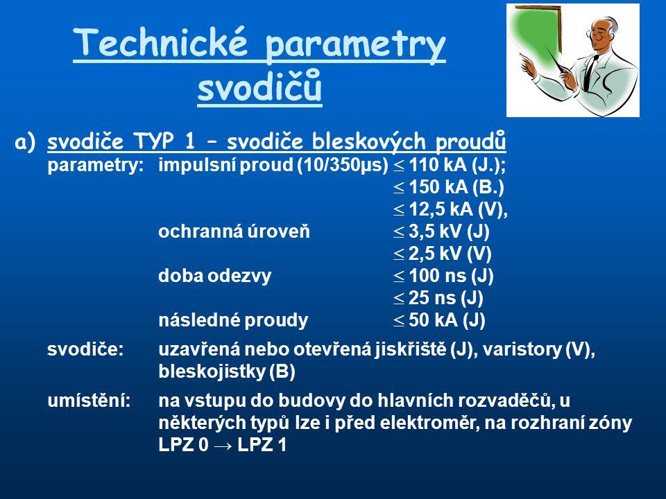 Technické parametry svodičů