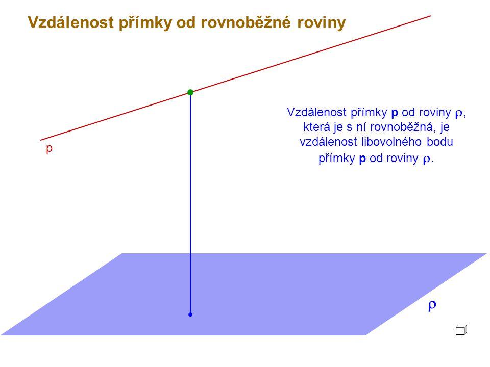 Vzdálenost přímky od rovnoběžné roviny