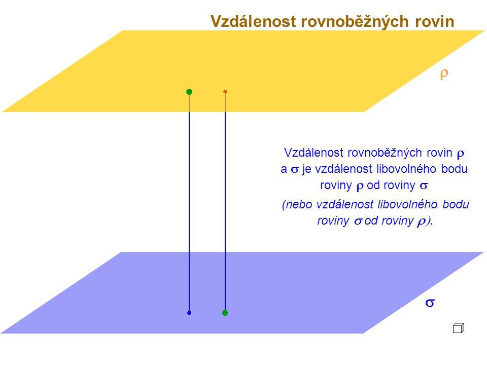 (nebo vzdálenost libovolného bodu roviny s od roviny r).