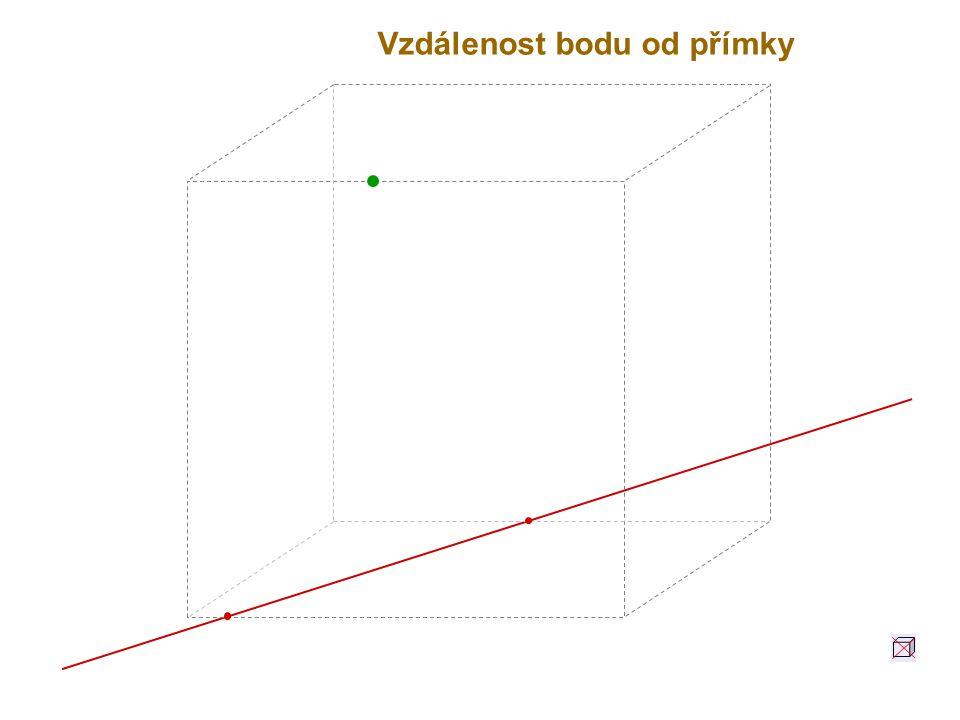 Vzdálenost bodu od přímky