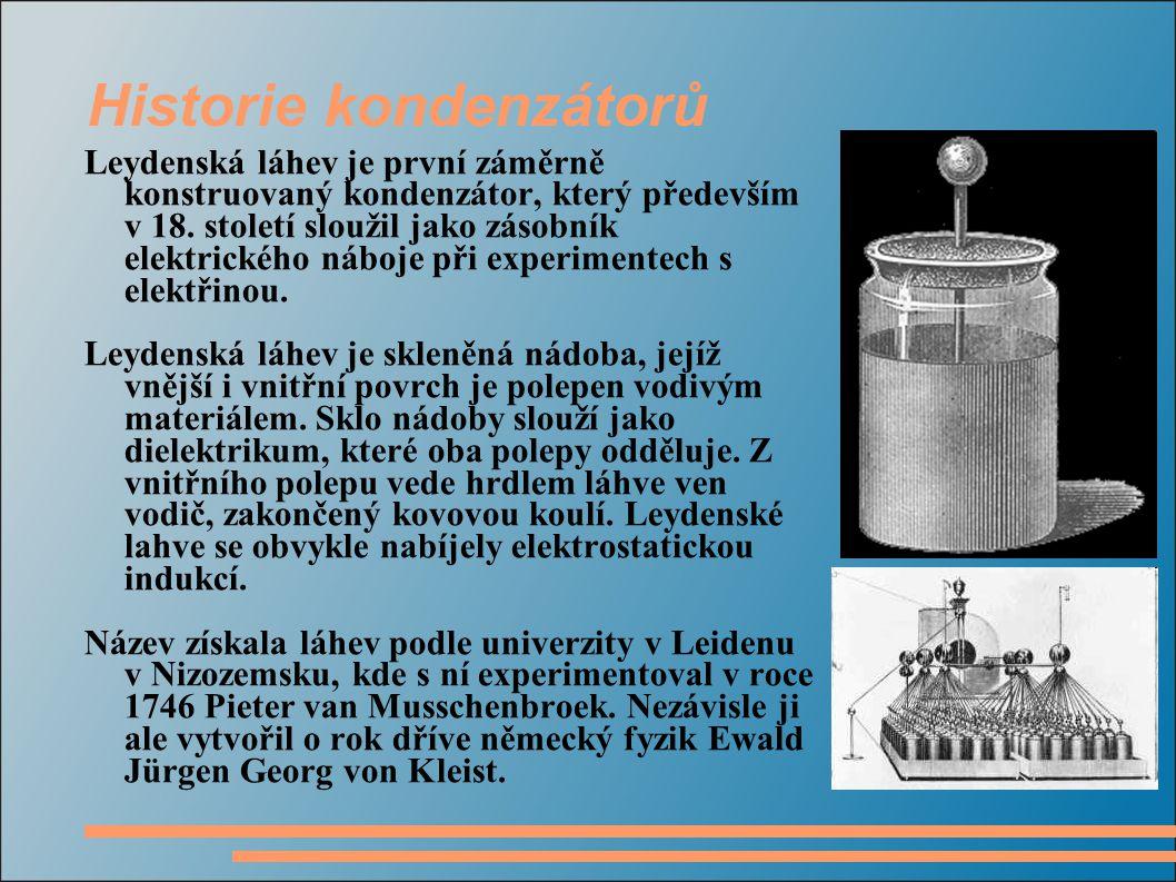 Historie kondenzátorů