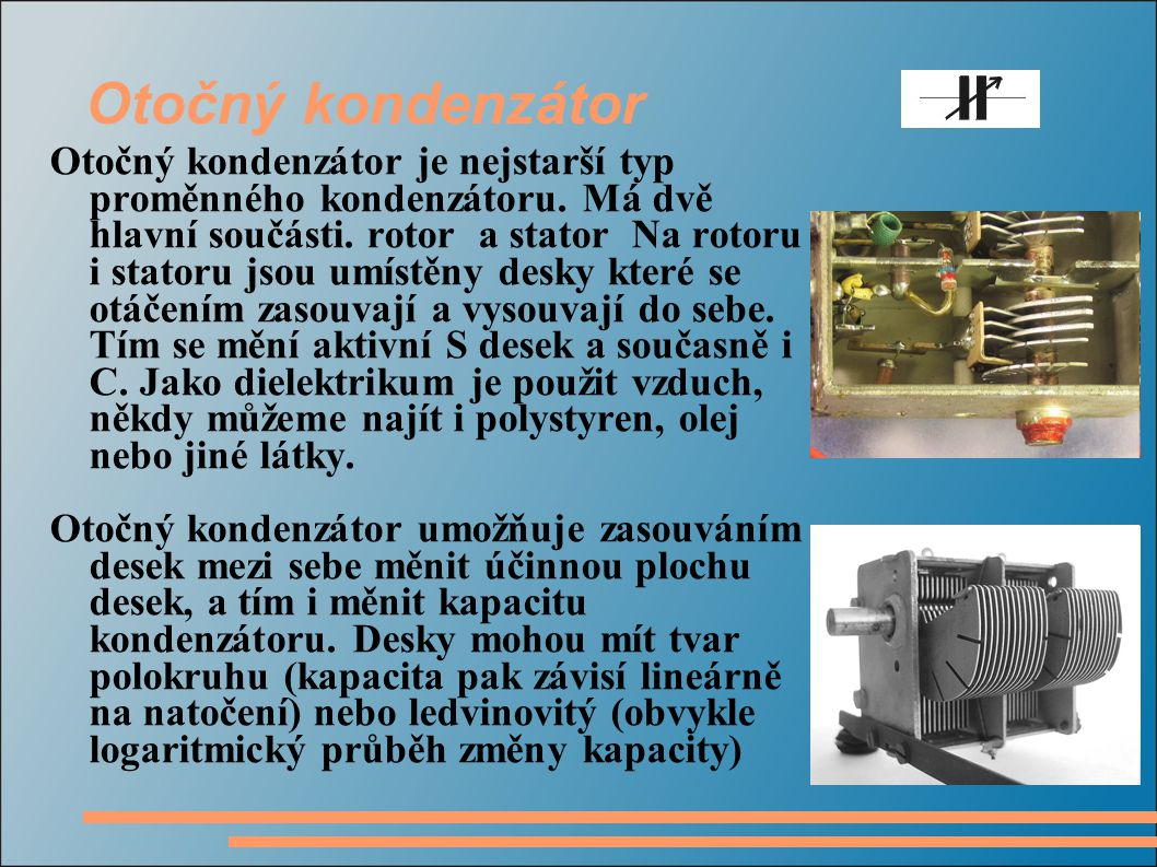 Otočný kondenzátor