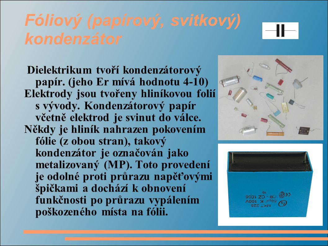 Fóliový (papírový, svitkový) kondenzátor