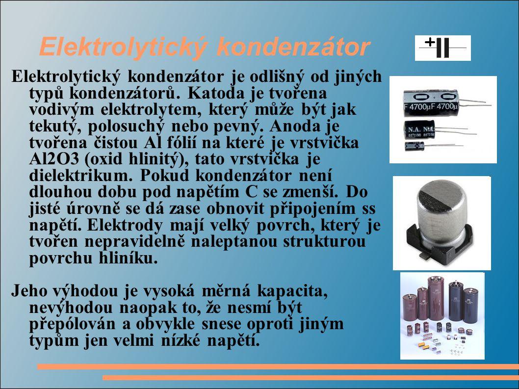 Elektrolytický kondenzátor