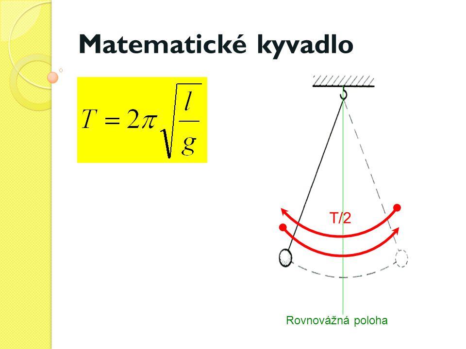 Matematické kyvadlo T/2 Rovnovážná poloha