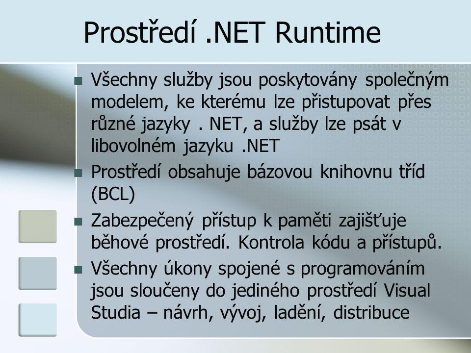 Prostředí .NET Runtime
