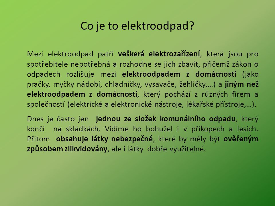 Co je to elektroodpad