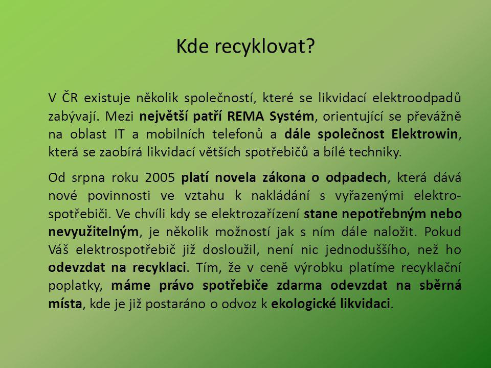 Kde recyklovat