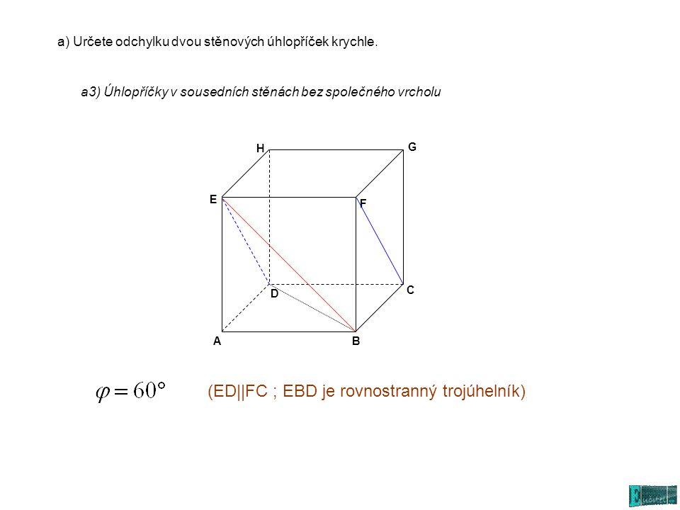 (ED||FC ; EBD je rovnostranný trojúhelník)