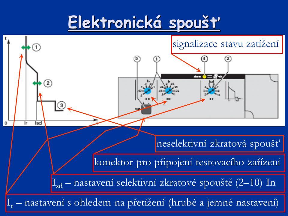 Elektronická spoušť signalizace stavu zatížení