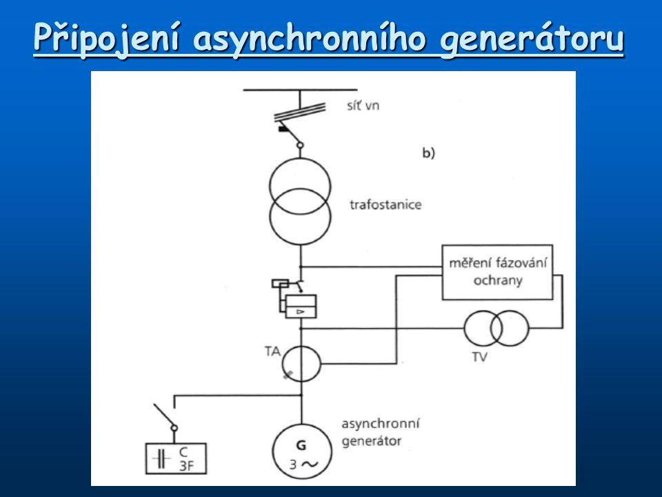 Připojení asynchronního generátoru