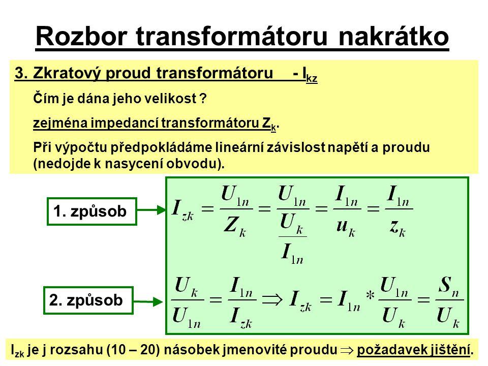 Rozbor transformátoru nakrátko