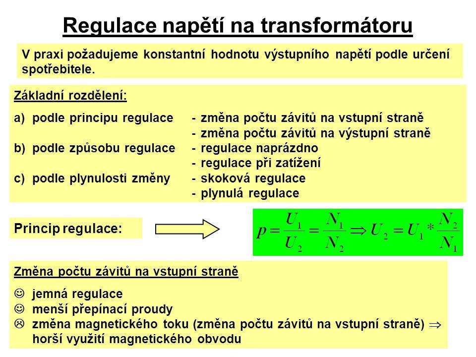 Regulace napětí na transformátoru