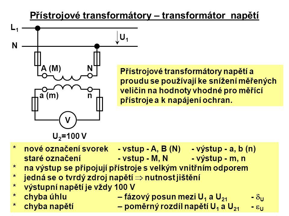 Přístrojové transformátory – transformátor napětí