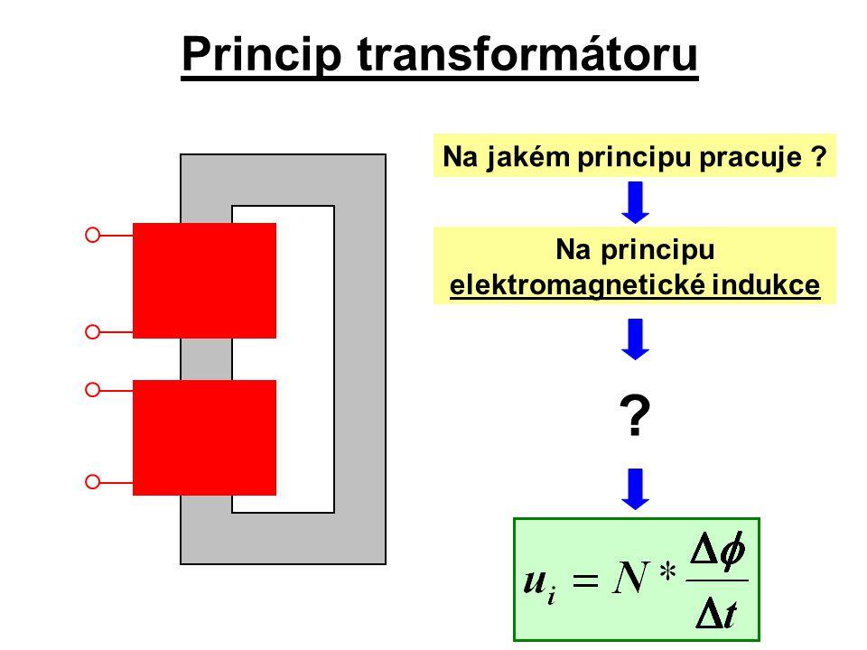 Princip transformátoru Na principu elektromagnetické indukce