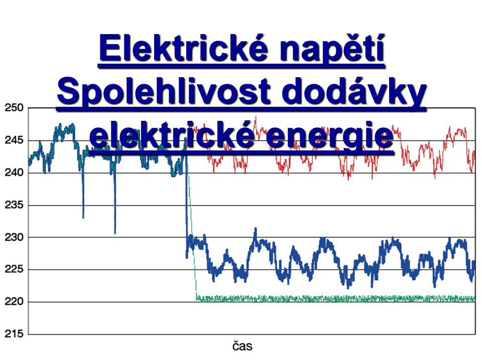 Elektrické napětí Spolehlivost dodávky elektrické energie