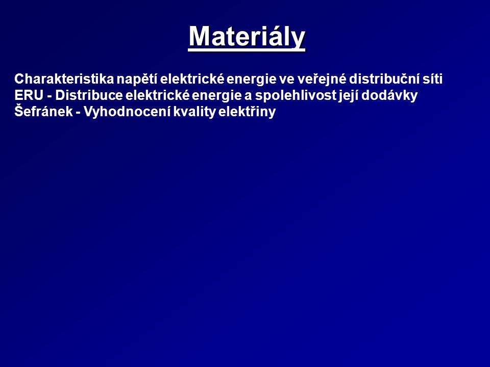 Materiály Charakteristika napětí elektrické energie ve veřejné distribuční síti. ERU - Distribuce elektrické energie a spolehlivost její dodávky.