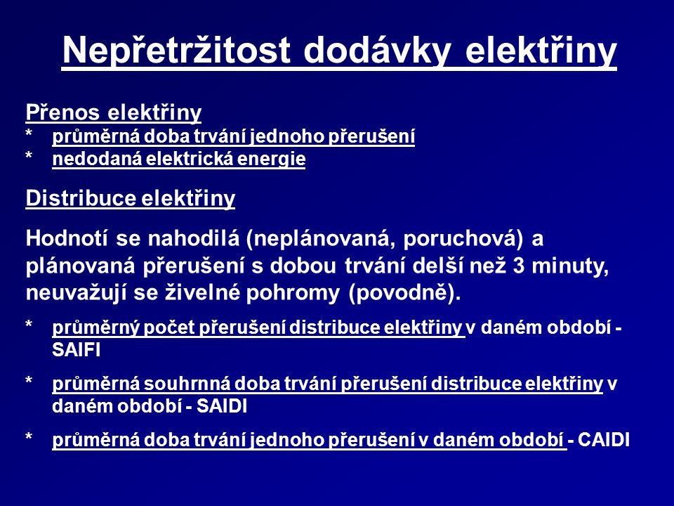 Nepřetržitost dodávky elektřiny