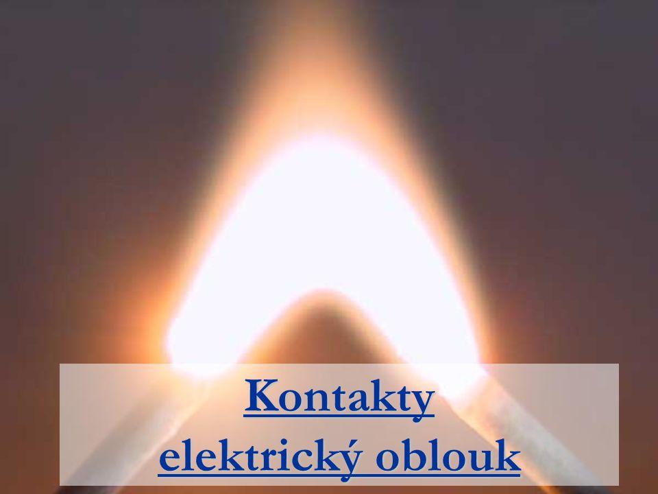 Kontakty elektrický oblouk