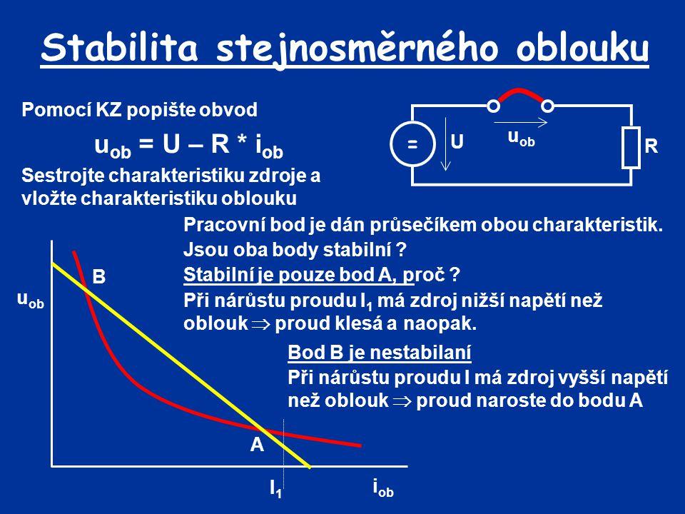 Stabilita stejnosměrného oblouku