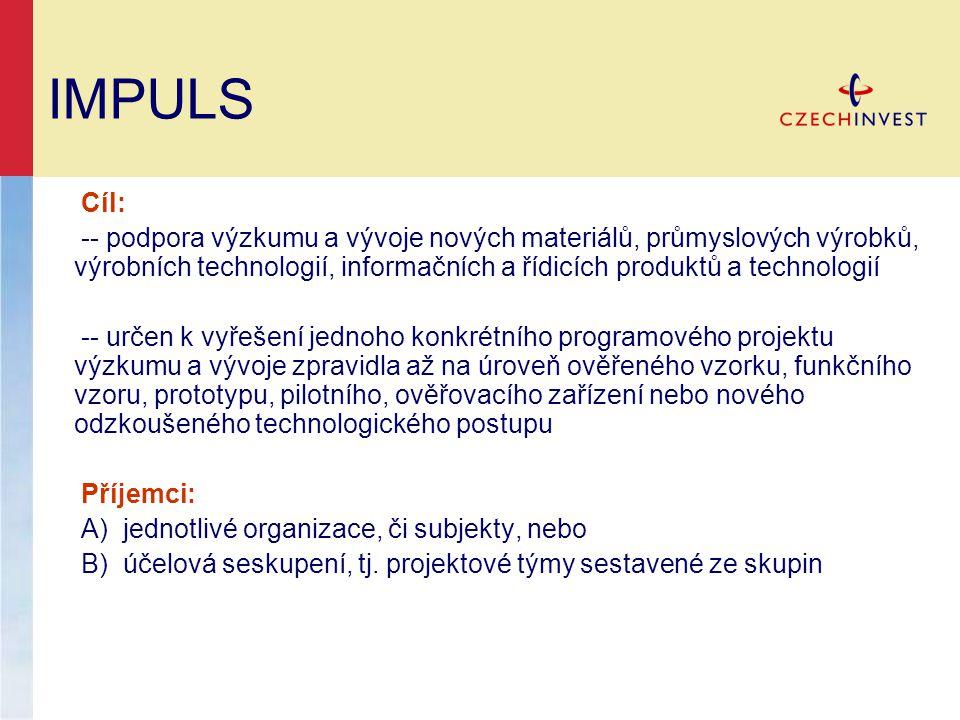 IMPULS Cíl: