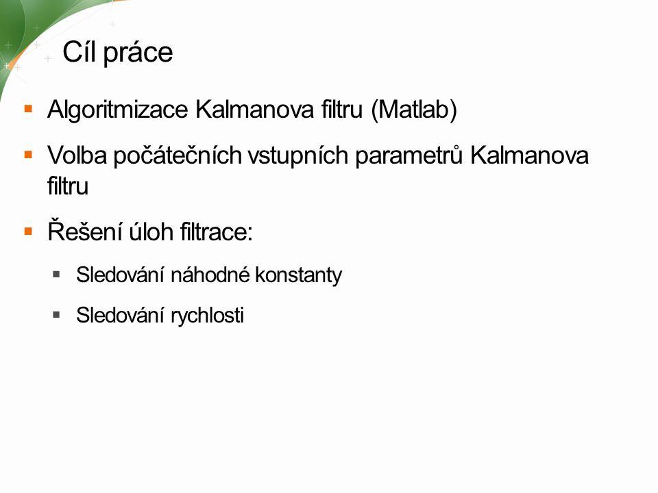 Cíl práce Algoritmizace Kalmanova filtru (Matlab)