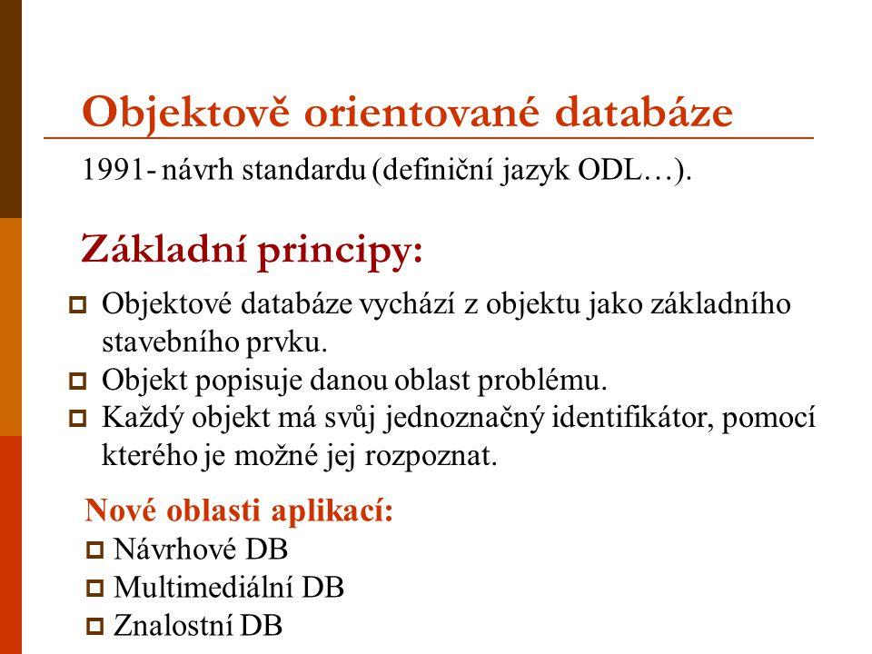 Objektově orientované databáze
