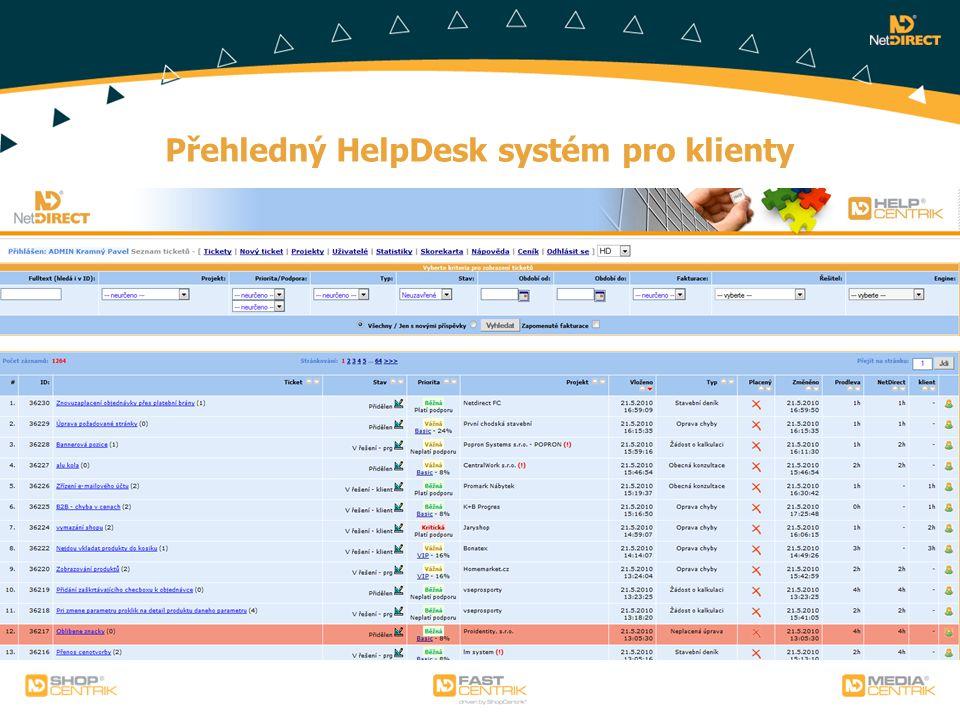Přehledný HelpDesk systém pro klienty