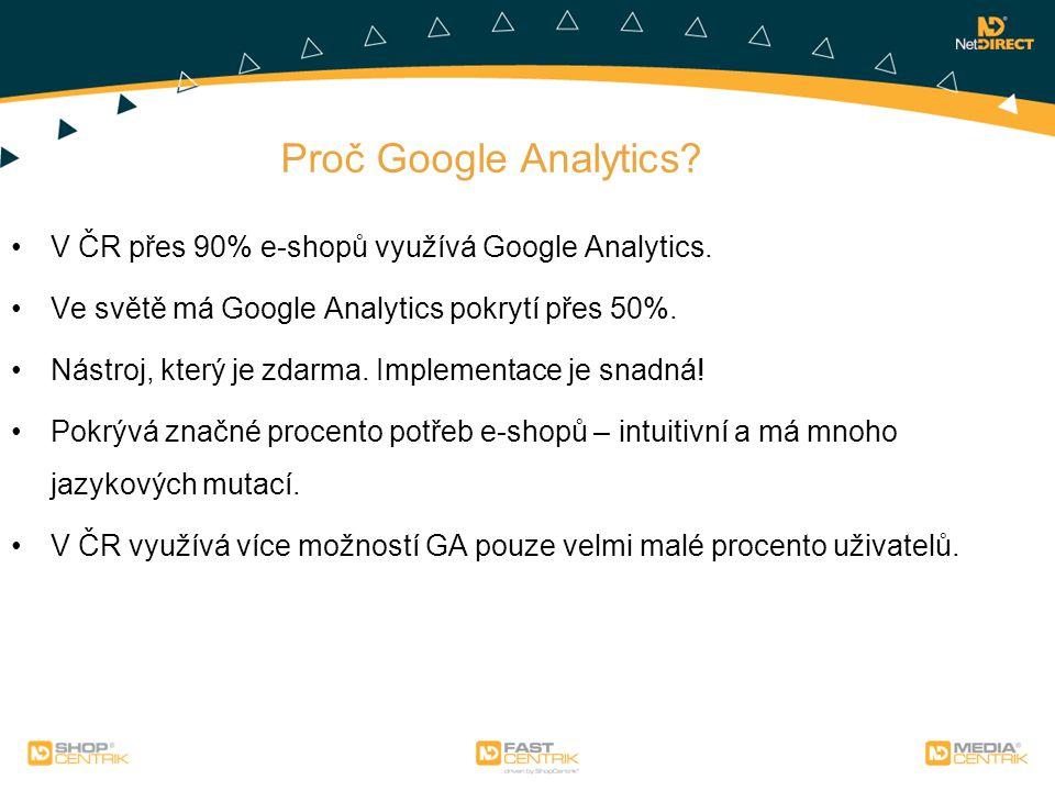 Proč Google Analytics V ČR přes 90% e-shopů využívá Google Analytics.