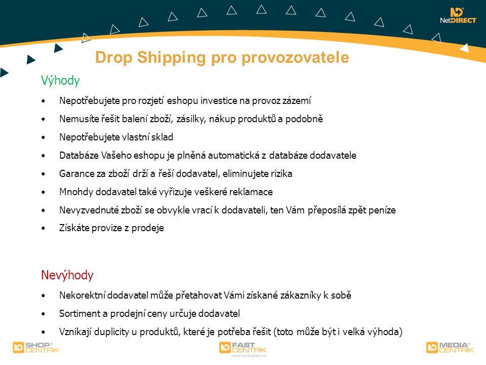 Drop Shipping pro provozovatele