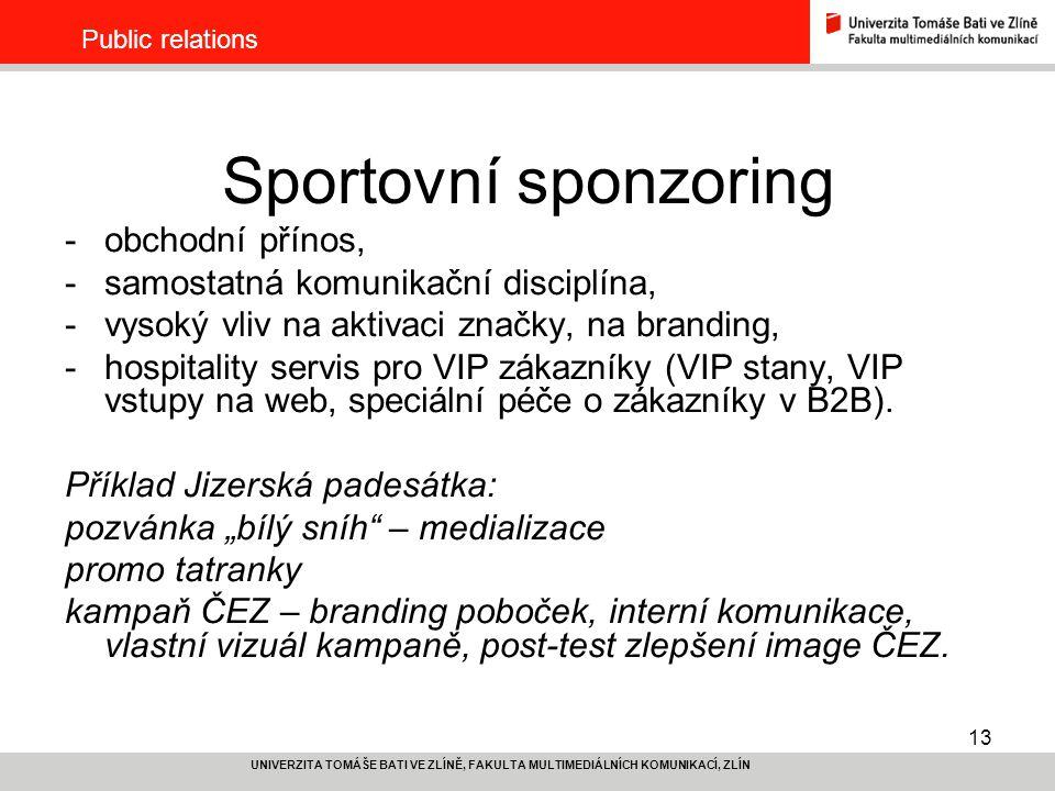 Sportovní sponzoring obchodní přínos,