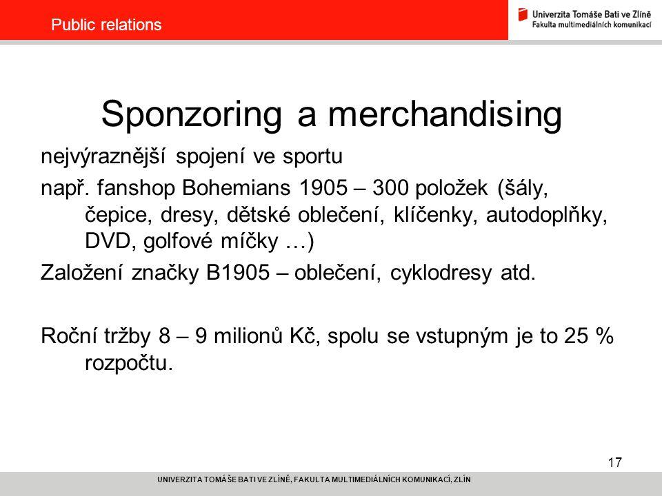 Sponzoring a merchandising
