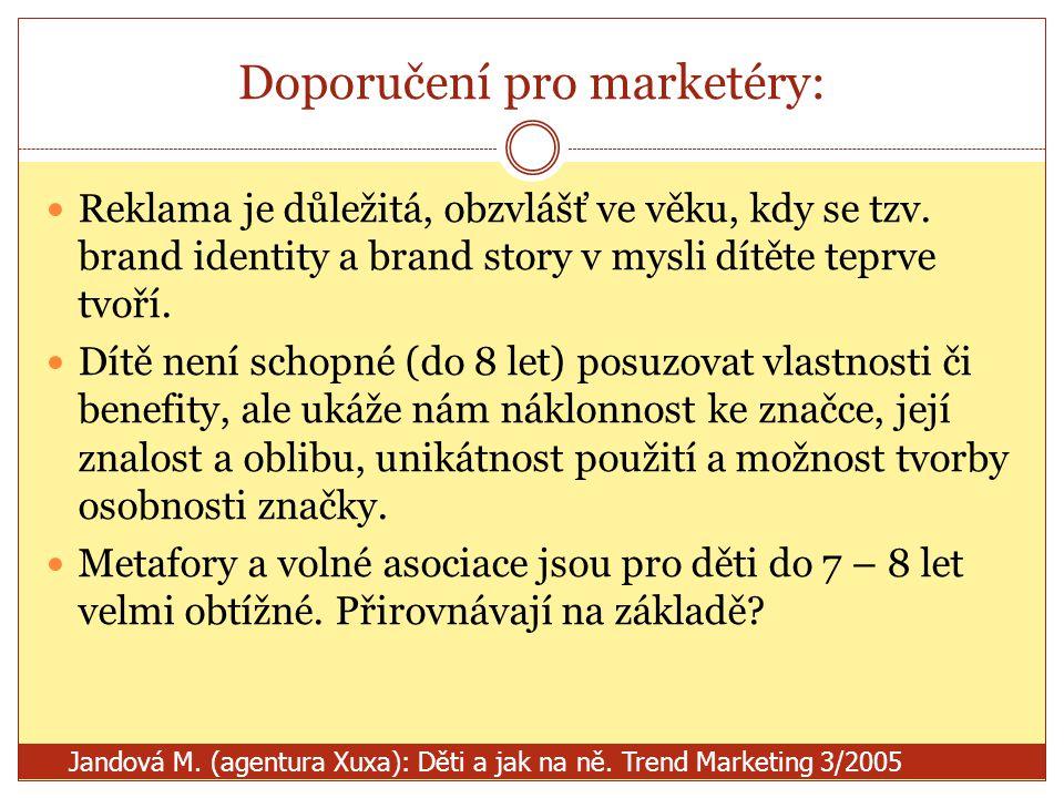 Doporučení pro marketéry: