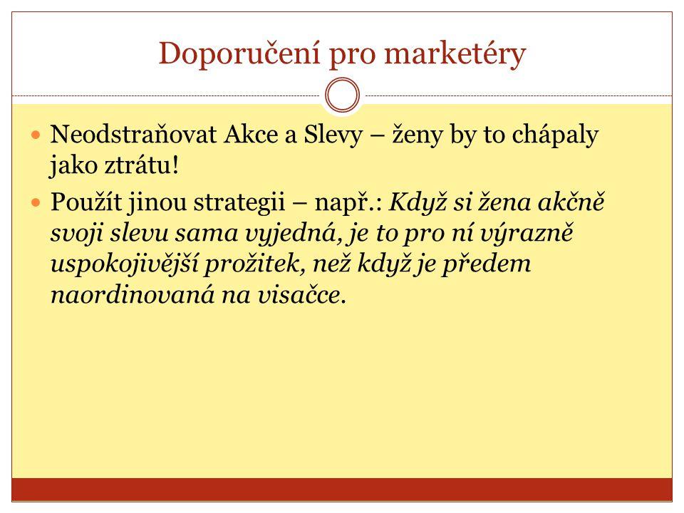 Doporučení pro marketéry